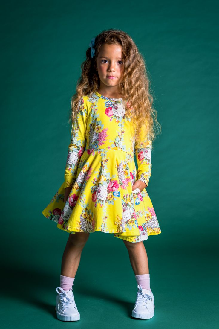 ROCK YOUR KID FLORAL CHINTZ WAISTED DRESS