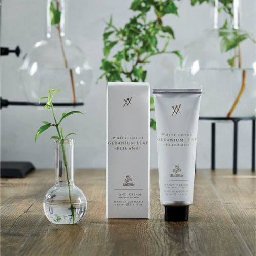 WHITE LOTUS, GERANIUM LEAF AND BERGAMONT HAND CREAM