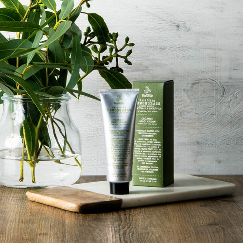 LEMONGRASS, LEMON MYRTLE, GRAPEFRUIT AND EUCALYPTUS ORGANIC HAND CREAM