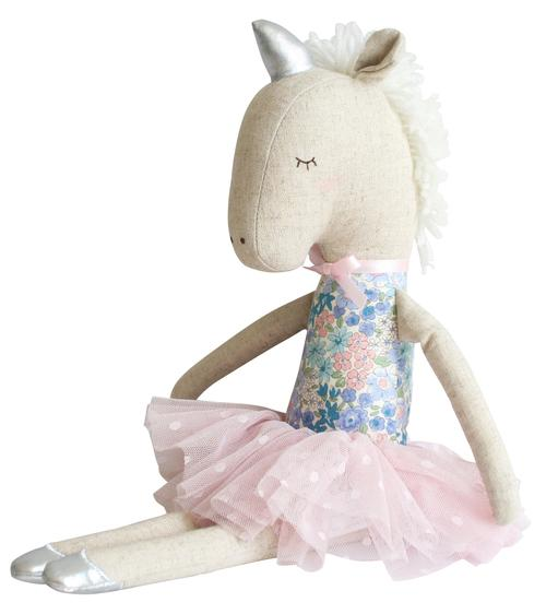 ALIMROSE YVETTE UNICORN DOLL - LIBERTY BLUE (43CM)