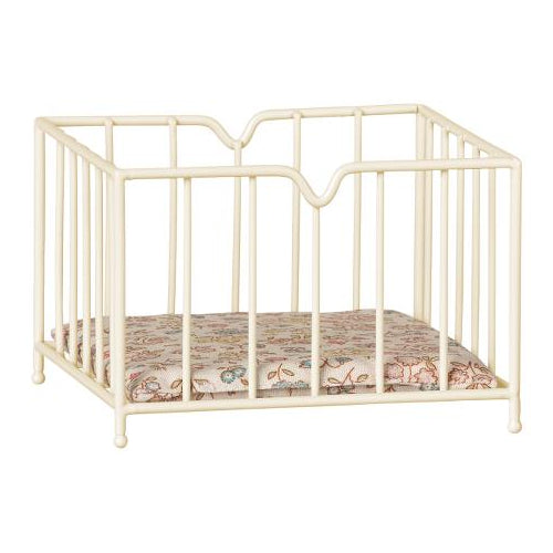 Maileg Metal Playpen Micro Off White