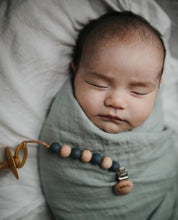 Mushie Muslin Swaddle Blanket Organic Cotton - Cognac