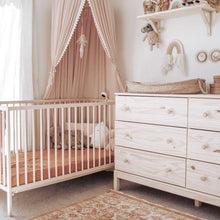 7pm Linen Fitted Cot Sheet - Clay