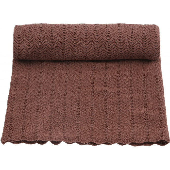 Konges Sløjd Pointelle Deux Blanket - Ruben Rose