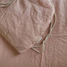 7pm Linen Fitted Cot Sheet - Floss