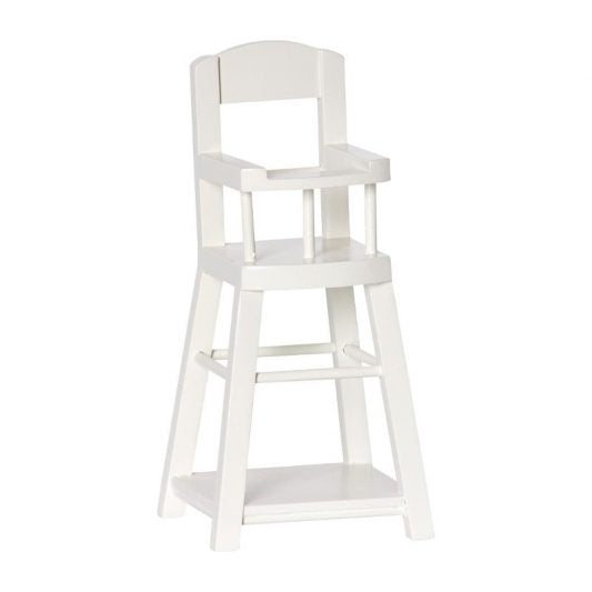 Maileg Wooden High Chair Micro Off White