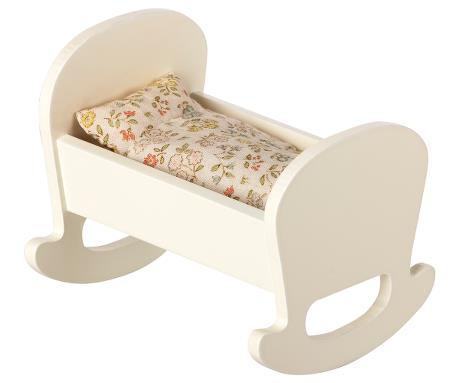 Maileg Cradle Baby Mouse, Off White