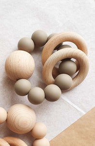 Dove & Dovelet Saturn Teether - Taupe