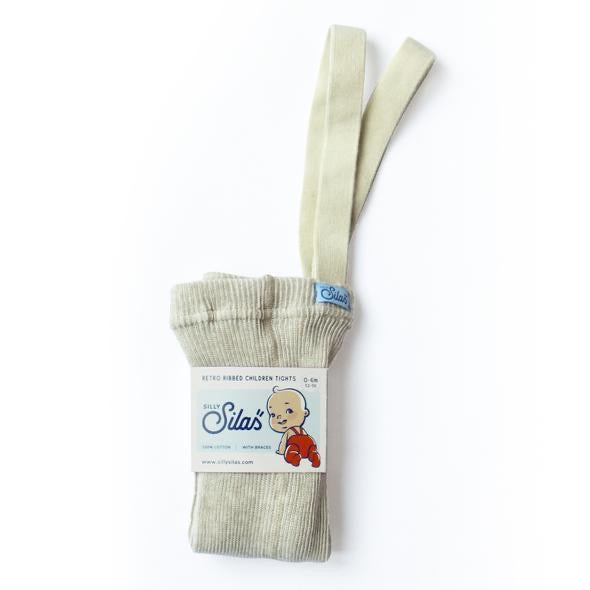 Silly Silas Retro Ribbed Tights - Cream Blend