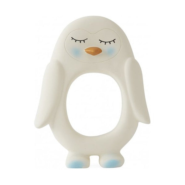 OYOY Penguin Baby Teether - White