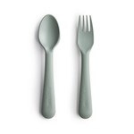 Mushie Fork & Spoon Set, Sage