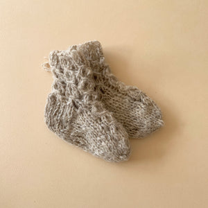 Knitted Socks - Oatmeal 6/12 months