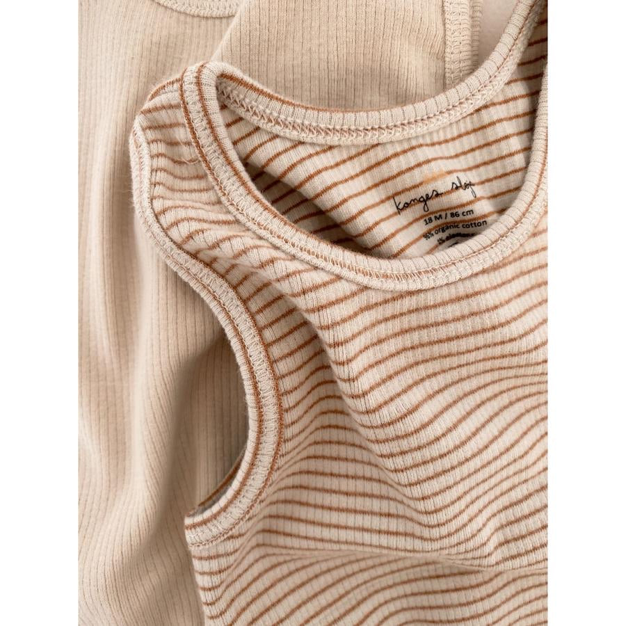 Konges Sløjd Saya 2pk Tank, Faded Brown/Beige