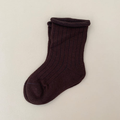 Ribbed Sock - Chocolate