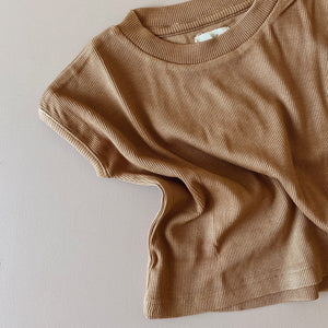 Ribbed Tee - Bronze