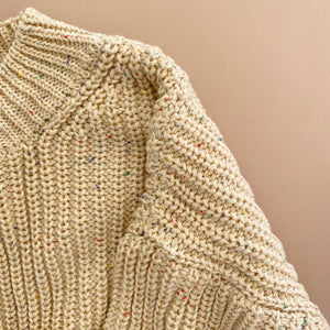 Arlo Chunky Knit, Speckled Oat