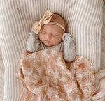 Mae and Rae Peach Bloom Swaddle