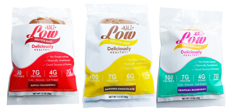 Low Kalz Low Calorie Protein Bars Sample Pack (3 Bars 1 of each) - Low Kalz