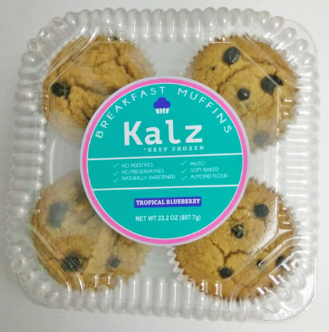 Kalz Tropical Blueberry Muffins (Pack of 4)