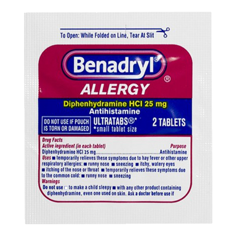 Benadryl Allergy - 2 Tablet Packs