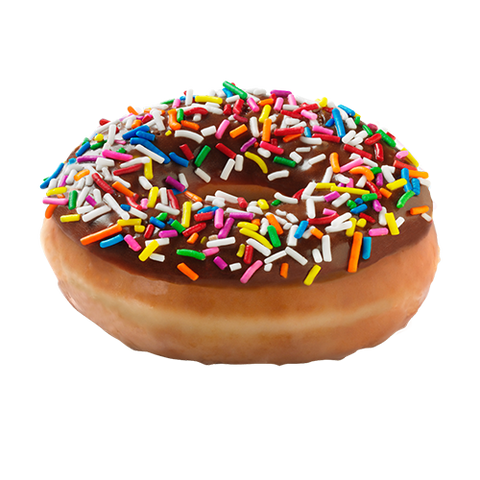 Chocolate Iced Glazed w/ Sprinkles Doughnut (Click Picture To Customize)