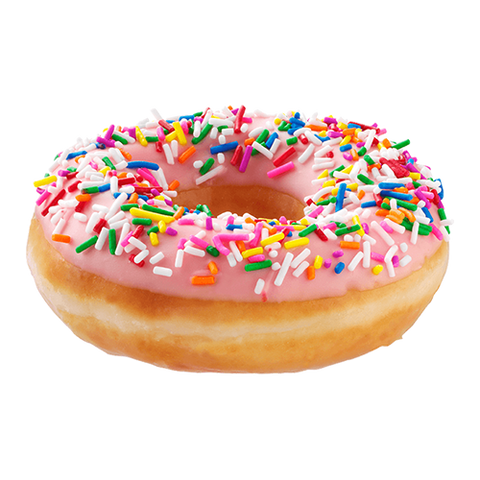 Glazed Strawberry Iced With Sprinkles Doughnut (Click Picture To Customize)