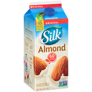 Silk Almond Milk, Half Gallon