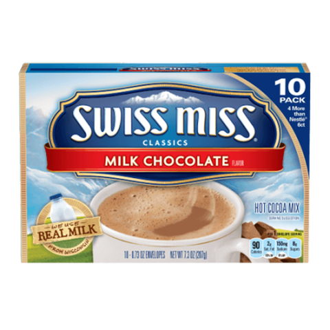 Swiss Miss Milk Chocolate Hot Cocoa Mix Envelopes, 10-Count