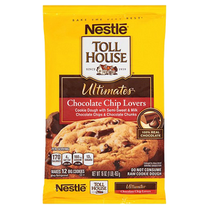 Nestle Toll House Ultimates Chocolate Chip Lovers Cookie Dough, 12 Cookies