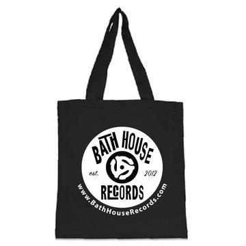 Bathhouse Record Logo RECORD TOTE BAG (Black)