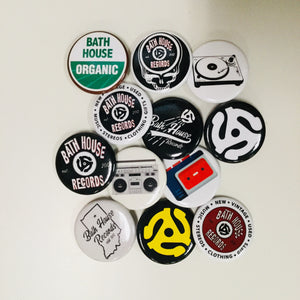 Bath House Records 4 Piece Button Pack