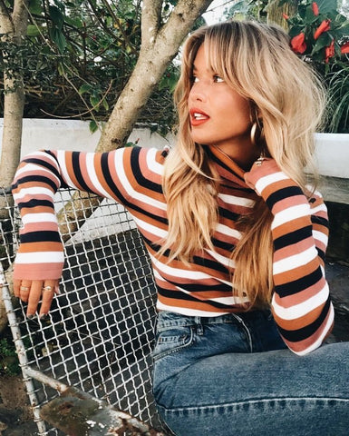 Stripe Long Sleeve Sweater