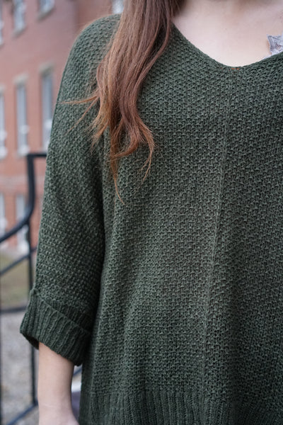Light Slouchy Sweater - Olive