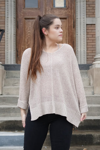 Light Slouchy Sweater - Oatmeal