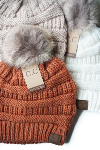 C. C. Pom Pom Toque - 10 Colours