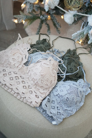Home For The Holidays Lace Bralette Collection - 9 Colours