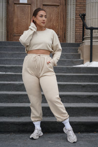 Light Tan Tracksuit - Hey Babe