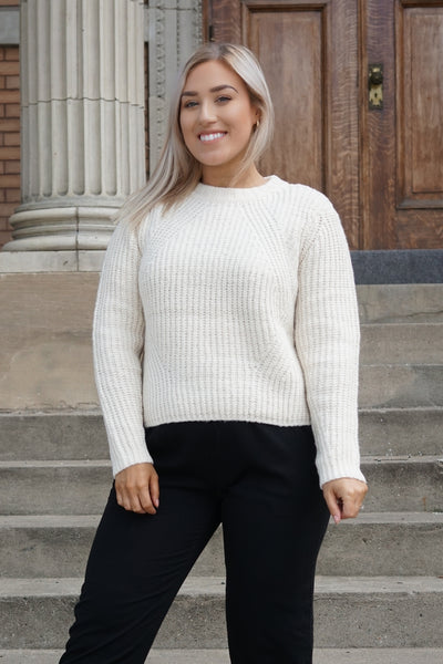 Cream Knit chunky sweater