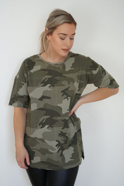 The Leone Oversized Camo Tee - Uforia Muse Online