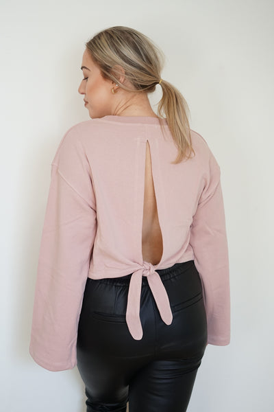 The Caitlin Open Back Sweatshirt - Uforia Muse Online