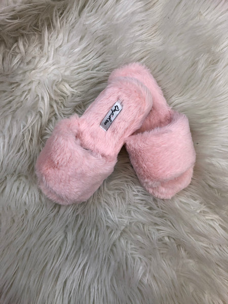 Children's Size Furry Slippers - 2 colours
