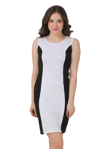 Texco Black & White Bodycon Dress