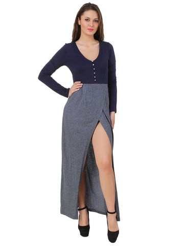 Texco Front Slit Long Maxi Dress