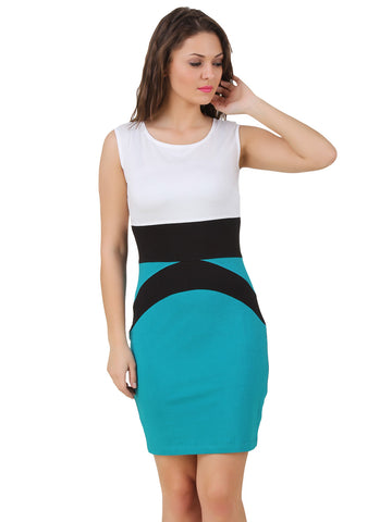 Texco Color Block Body Con Dress