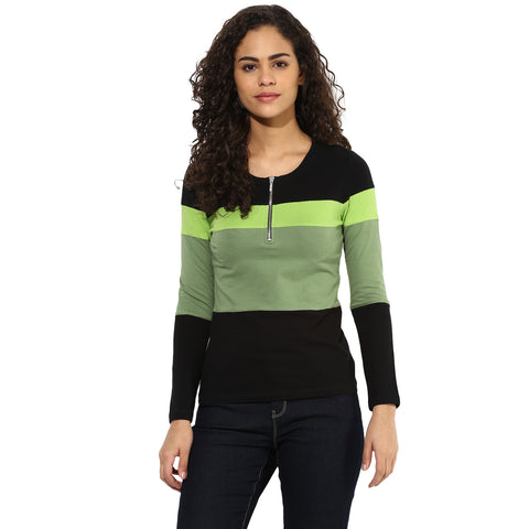 Texco Women's Color block Top