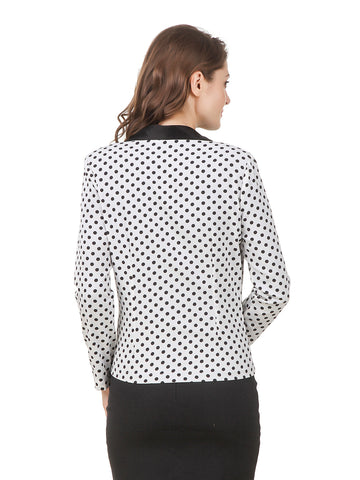 Texco Women's Polka Dot Summer Blazer Jacket