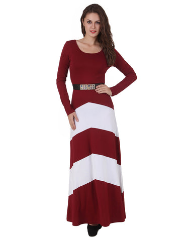 Texco Chevron Style Party Dress With Belt