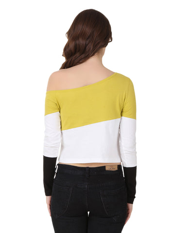 Texco One Off Shoulder Crop Top