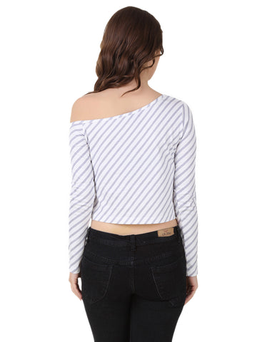 Texco Smart One off shoulder Crop Top