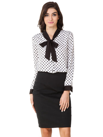 Texco Formal Polka Dots Shirt